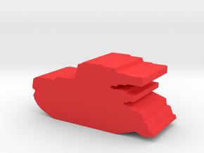 Game Piece, Imperium Light Tank in Red Processed Versatile Plastic