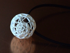 Intricate Dream Within A Dream Pendant in White Natural Versatile Plastic