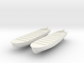 1/144 Scale USN Life Boats in White Natural Versatile Plastic