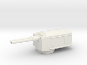 1/144 Scale 6 In Mk 16 Mod 1 Twin Turret in White Natural Versatile Plastic
