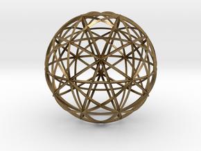 Icosahedron symmetry circles 16 in Natural Bronze