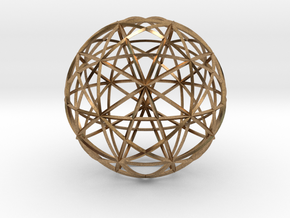 Icosahedron symmetry circles 16 in Natural Brass