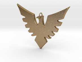 Rachel Summers Phoenix Pendant in Polished Gold Steel