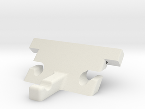 Tail Block V2 in White Natural Versatile Plastic