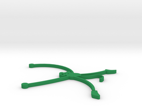 Flat Monkey Coaster in Green Strong & Flexible Polished