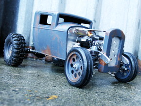 RC Hotrod Body - 32 Ford Inspired in White Strong & Flexible Polished