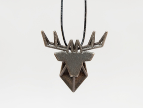 DEER Pendant in Polished and Bronzed Black Steel