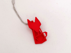 FOX Pendant in Red Processed Versatile Plastic