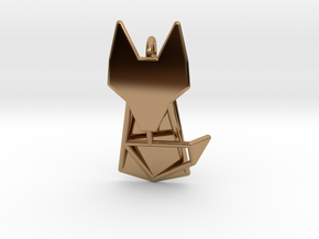 FOX Pendant in Polished Brass