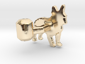French Bulldog Cufflink in 14K Yellow Gold