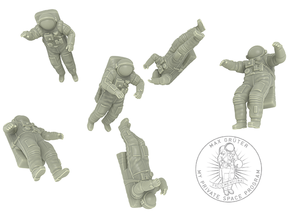 Astronaut // Cosmonaut with Orlan Space Suit in White Natural Versatile Plastic: 1:72