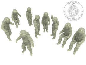 Generic Astronauts Set / 1:72 in White Natural Versatile Plastic