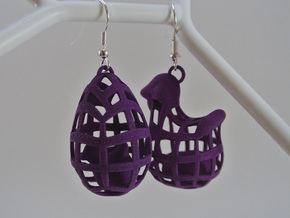 The Chicken or The Egg - Earrings in White Natural Versatile Plastic