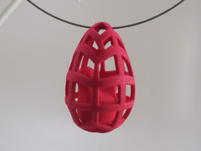 Egg before Chicken - Pendant in White Processed Versatile Plastic