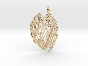 Shy Angel Pendant in 14K Yellow Gold