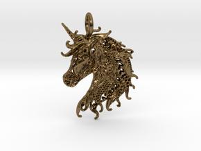 Ledgend Pendant in Polished Bronze
