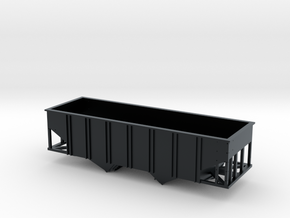 N Scale 55 Ton U Channel Hopper  in Black Hi-Def Acrylate