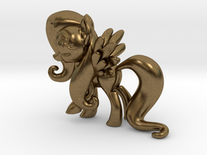 Fluttershy 1B Full Color - S2 in Natural Bronze