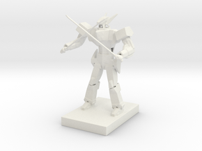 Anime style mecha in White Natural Versatile Plastic