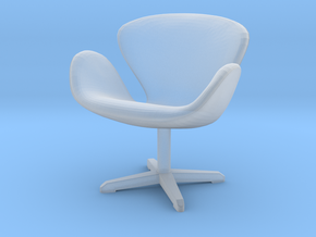 Miniature Swan Lounge Chair - Arne Jacobsen  in Smooth Fine Detail Plastic: 1:48