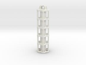 Tritium Lantern 5A (Stainless Steel) in White Natural Versatile Plastic