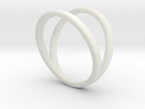 Split Ring Size 9 in White Natural Versatile Plastic