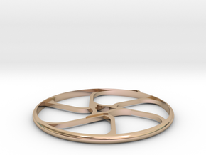 Triad Earring/Pendant in 14k Rose Gold Plated Brass