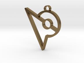 Pokemon Go Inspired Keychain in Natural Bronze