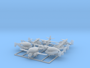 C-1, E-1 & S-2 w/Gear x8 (FUD) in Smooth Fine Detail Plastic: 1:600