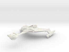 """Romulan D4 Class  Battlecruiser  5.4"""" in White Natural Versatile Plastic"""