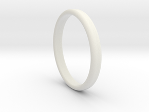 Ring Band Size 10 in White Natural Versatile Plastic