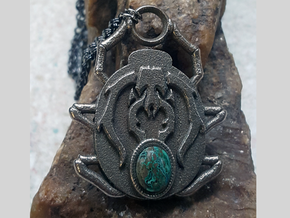 Golgari Pendant in Polished Bronzed Silver Steel