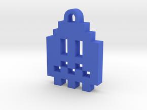 Pac Man Ghost 8-bit Earring 1 (afraid) in Blue Processed Versatile Plastic