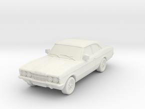 1:87 Cortina mk3 standard 2 door hollow in White Natural Versatile Plastic