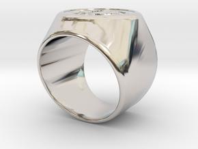 Riga Signet Ring v4 in Platinum