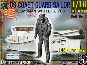 1/16 USCG Helmsman 2 in White Natural Versatile Plastic