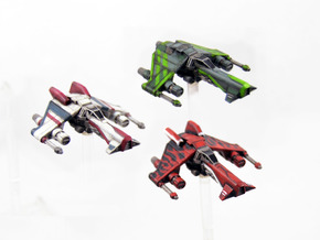 3 pack Kihraxz Style Vaksai Starfighter S1 Variant in Frosted Extreme Detail