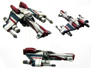 3-Pack Kihraxz Style Vaskai Fighter - Variant 1A in Frosted Extreme Detail