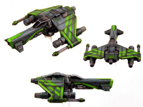 3-Pack Kihraxz Style Vaskai Fighter - Variant 1B in Frosted Extreme Detail