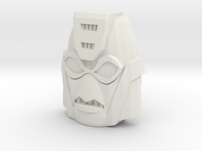 Gobots Cop-Tur Face (Titans Return) in White Natural Versatile Plastic