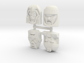 Gobots Renegade Faces Four Pack in White Natural Versatile Plastic
