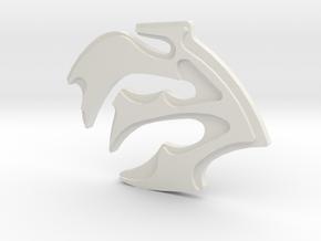 Lursa Pin in White Natural Versatile Plastic