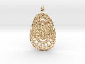 Ornater Pendant in 14K Yellow Gold