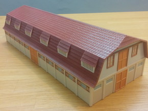 Old Farm House 1/75 in Glossy Full Color Sandstone