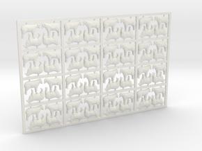Sheep - Head Raised X 64 - 3mm Scale/1:100 in White Natural Versatile Plastic