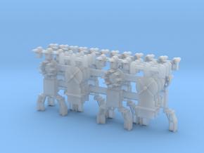 Dwarf B&O CPL-UpperSpdLamps-GndBrkt(6) - HO 87:1 S in Smooth Fine Detail Plastic