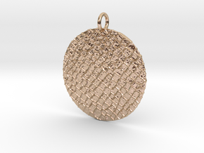 Puzzled Pendant in 14k Rose Gold Plated Brass
