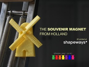 Magnetic Windmill in Yellow Strong & Flexible Polished