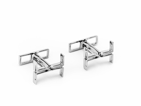 Big T , Cufflinks in Polished Silver