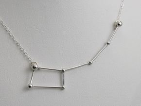 Ursa Minor Necklace in Rhodium Plated Brass